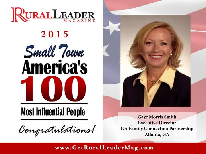 Gaye Smith named one of Small Town America's 100 Most Influential People of 2015