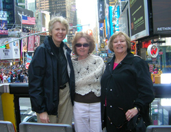 Ellen Whitlock, Linda Lunsford and Linda Long in NYC